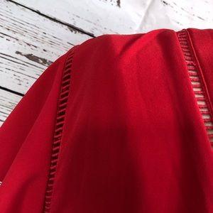 Q&A Tops - Q&A Stitch Fix Red Short Sleeve Blouse NWOT